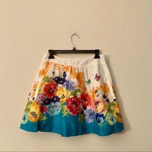 Edme & Esyllte Anthropologie floral mini skirt